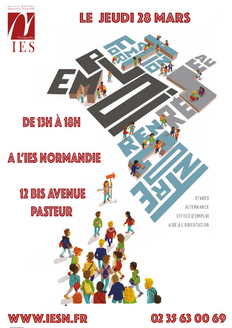 Affiche forum de l'emploi 2019